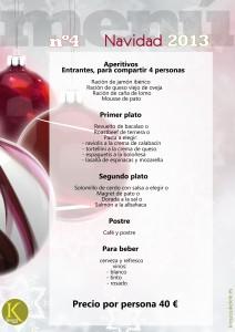 menús navideños en kiosco ukelele (restaurante dos hermanas)